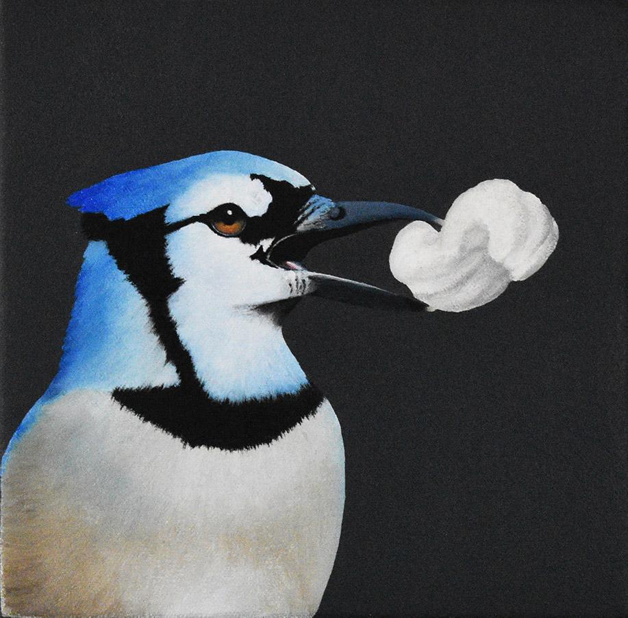 "Robin McCauley:  Peanut, 2020 Oil on canvas 6"" x 6"""