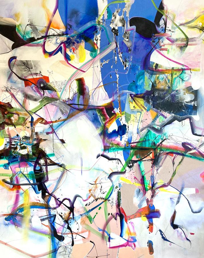 "Dimensions, 2021 Acrylic on canvas 60"" x 48"""