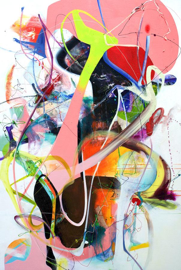"We Wonder, 2020 Acrylic on canvas 60"" x 40"""