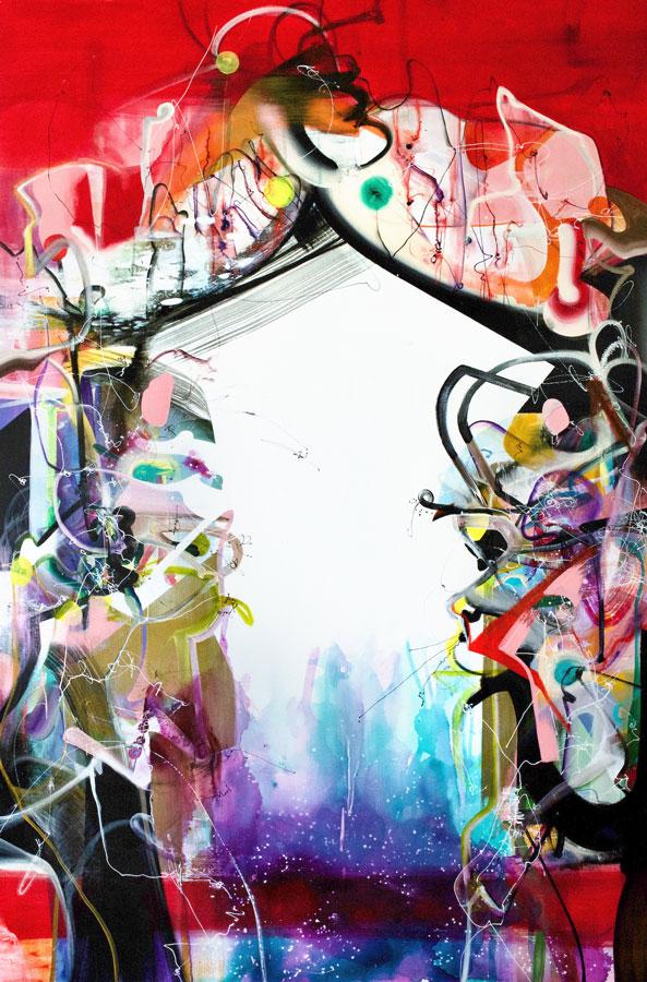 "Looking Inside Understanding Outside, 2020 Acrylic on canvas 60"" x 40"""