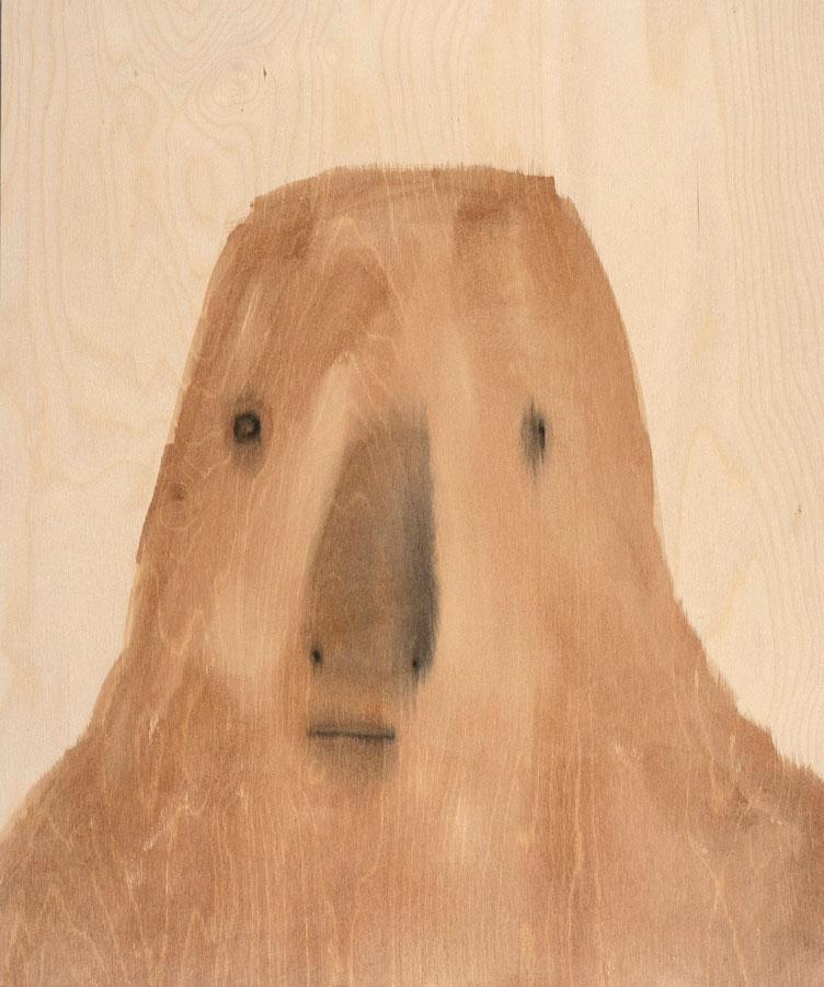 """Jon Huck: Root, 2020 Mixed media on wood panel 20"""" x 24"""""""