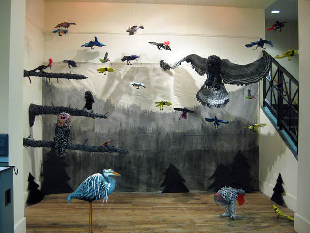 """Aviary, 2012, Paper and paint, 240"""" x 240"""" x 144"""""""